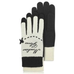 Cheap and Chic Black and White Wool Blend Gloves