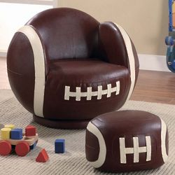 Kid's Football Design Chair and Ottoman