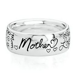 Sentiments Sterling Silver Mother Ring