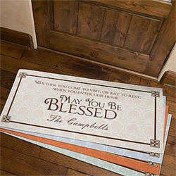 May You Be Blessed Personalized Oversized Doormat