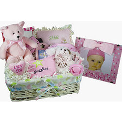 She Rules Baby Gift Basket with Frame