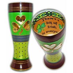 Irish Handpainted Pilsner Glass