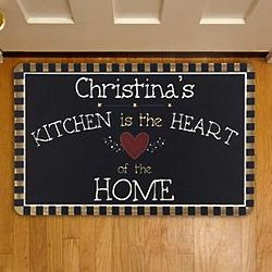 Personalized Heart of the Home Kitchen Floor Mat