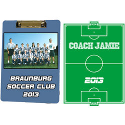 Personalized Coach Team Photo Clipboard