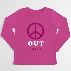 Kid's Peace Out Long Sleeve T-Shirt