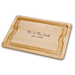 Personalized Mr. and Mrs. Cutting Board