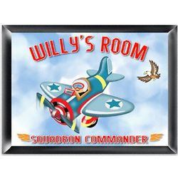 Personalized Fly-Boy Kid's Room Sign