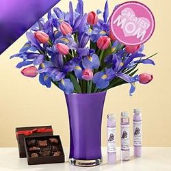 Ultimate Mom's Delight Bouquet, Chocolates, and Spa Set