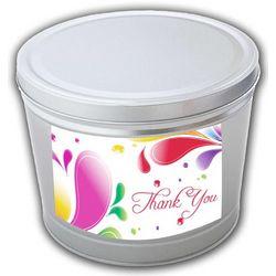 Thank You 3.5 Gallon Popcorn Tin