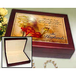 Personalized Soft Roses Keepsake Box