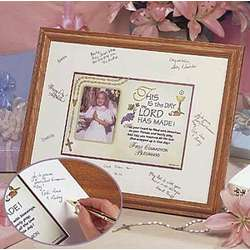 First Communion Registry Picture Frame