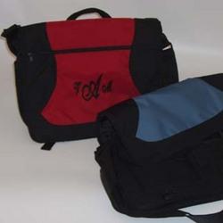 Monogrammed Messenger Bag