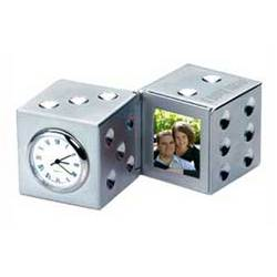 Personalized Dice Clock & Photo Holder