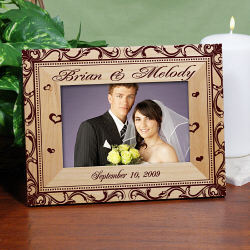Personalized Wedding Couple Picture Frame