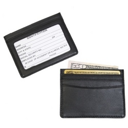 Leather Mini ID and Credit Card Holder