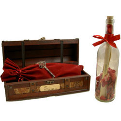 Deluxe Across the Miles Message Bottle and Keepsake Box