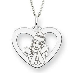 Sterling Silver Cinderella Heart Pendant
