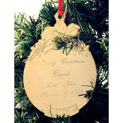 Engravable Gold Plated Ball Ornament
