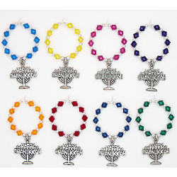 Happy Chanukkah Wine Charms