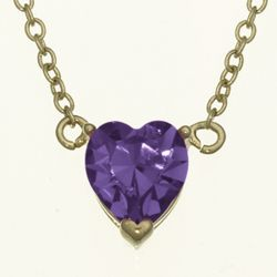 Solitaire Heart Austrian Crystal Birthstone Pendant