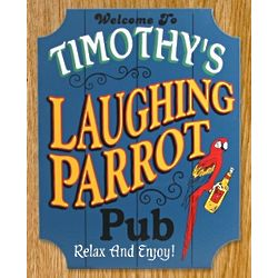 Laughing Parrot Pub Personalized Sign