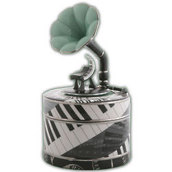 Piano Musical Trinket Box with Removable CD Spindle