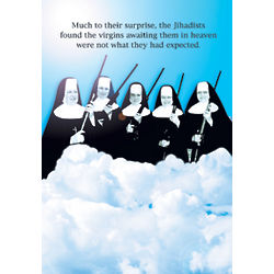 Virgins in Heaven Funny Birthday Card