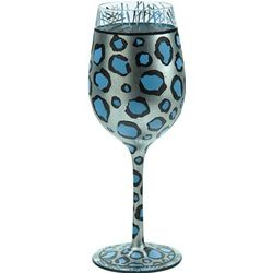 Snow Leopard Wine Glass