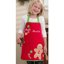 Personalized Kid's Gingerbread Man Christmas Apron