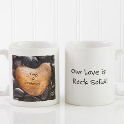 Personalized Heart Rock Coffee Mug