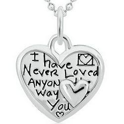 Way I Love You Heart-Shaped Pendant