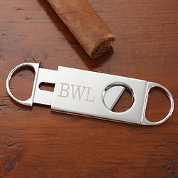 Personalized Silver Cigar Cutter
