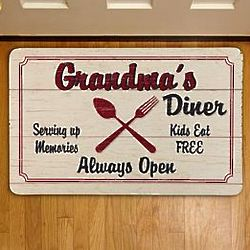 Personalized Country Kitchen Diner Floor Mat