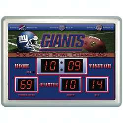 New York Giants Scoreboard Clock and Thermometer