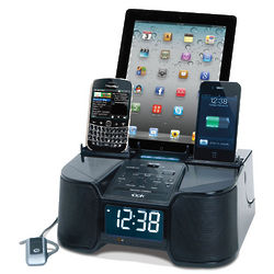 Six Device Charging Clock Radio