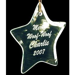 Personalized Beveled Glass Star Ornament