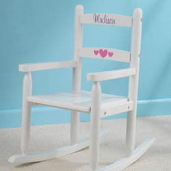 Our Chair Rocks Personalized White 2-Slat Rocker