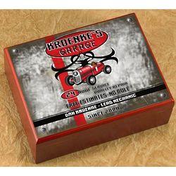 Personalized Garage Cigar Humidor