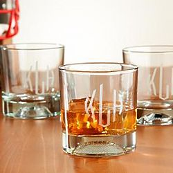 Personalized Sports Low Ball Glasses