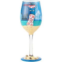 Beach Life Wine Glass