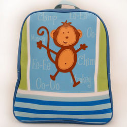 Personalized Monkey Vinyl Backpack