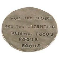 Focus Hand Stamped Inspiration Pewter Coin