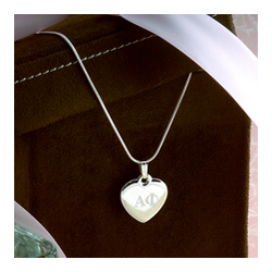 Greek Personalized Heart Necklace