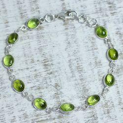 'Elegant' Peridot Link Bracelet