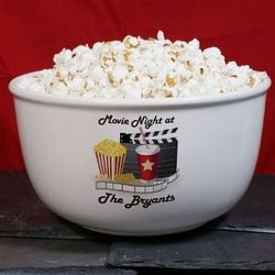 Personalized Movie Night Ceramic Bowl
