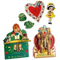 3-D Vintage Valentine Cards
