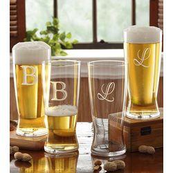 Personalized Pilsner Beer Glass Set