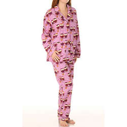 Owls in Autumn Flannel Pajama Set