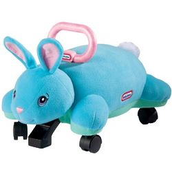 Kid's Bunny Pillow Racer Ride-On Toy