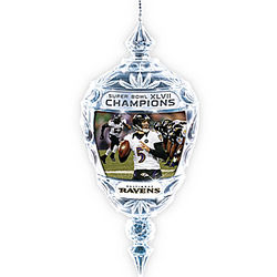 Baltimore Ravens 2012 Super Bowl Champions Crystal Ornament